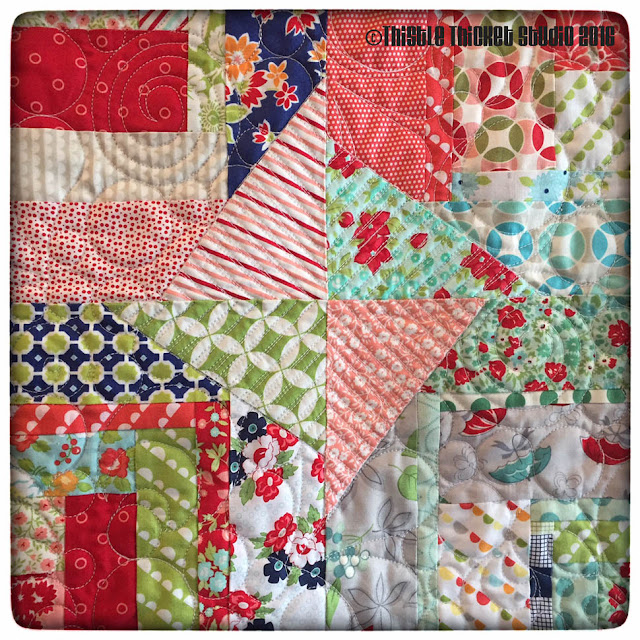 Bonnie and Camille Log Cabin Swap, log cabin quilt, thistle thicket studio,