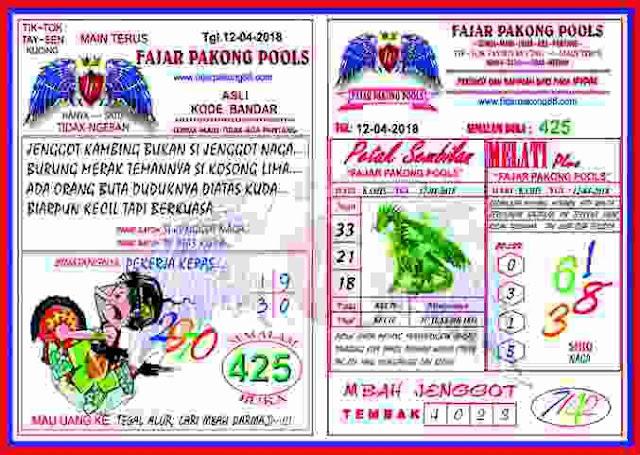 Bandar Syair Kode Prediksi Fajar Pakong Pools 13 April 2018