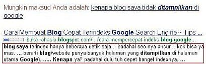 blog terindeks google