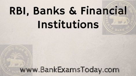 rbi and financial institution