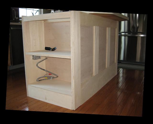 Adding A Bookshelf To Kitchen Island