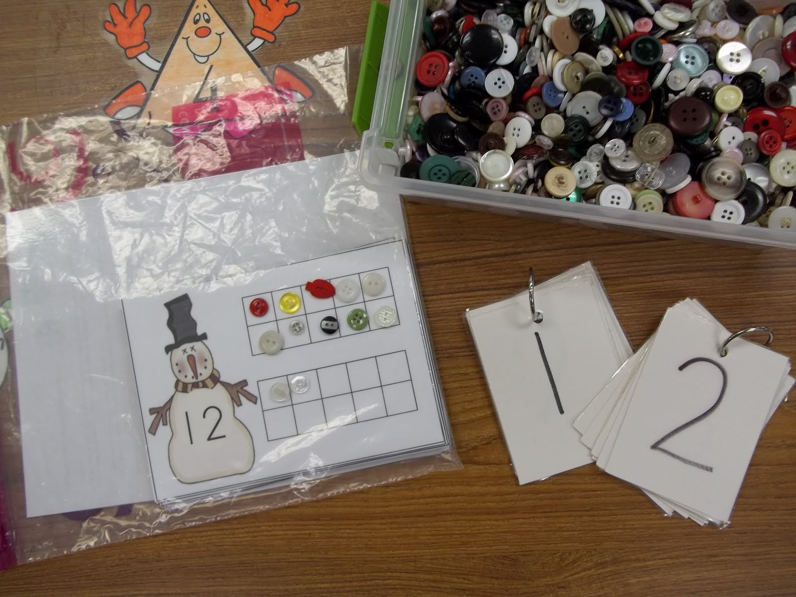 Math Tubs In Kindergarten January Snow And Focus On Teen Numbers