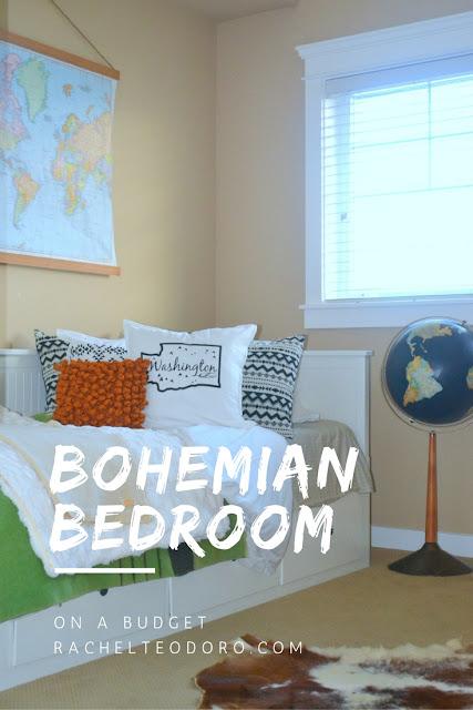 Bohemian Bedroom on a Budget - Rachel Teodoro on Boho Bedroom Ideas On A Budget  id=29187