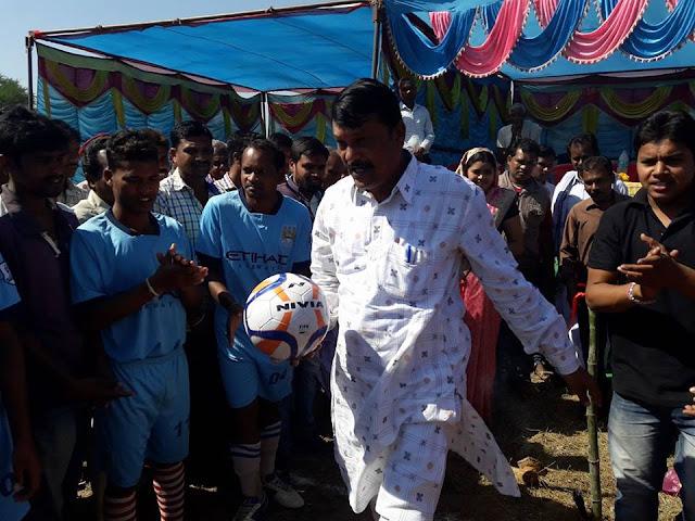 14 Jharbanndh Dungurichada football league attended by MLA Padampur Sri Pradip Purohit