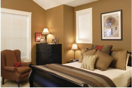 colores de pintura café para un dormitorio, pintar de café el dormitorio