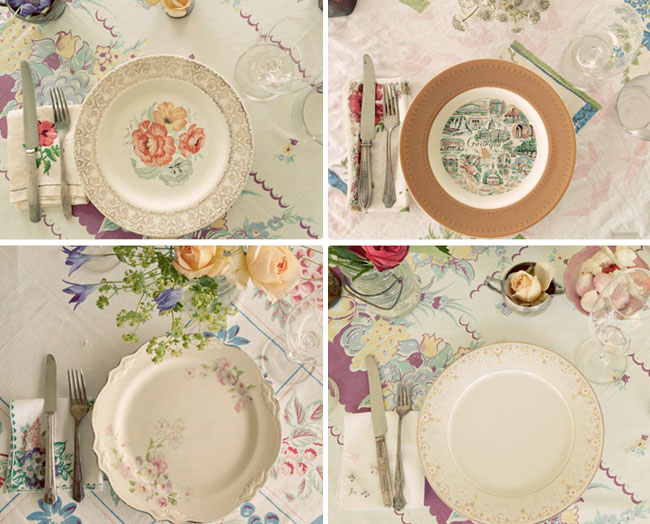 Let Them Eat Cake: Mismatched Plates, Reception Ideas, And