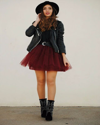 outfit hipster con falda de tul tumblr