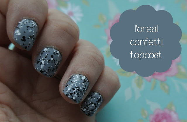 loreal confetti topcoat swatch