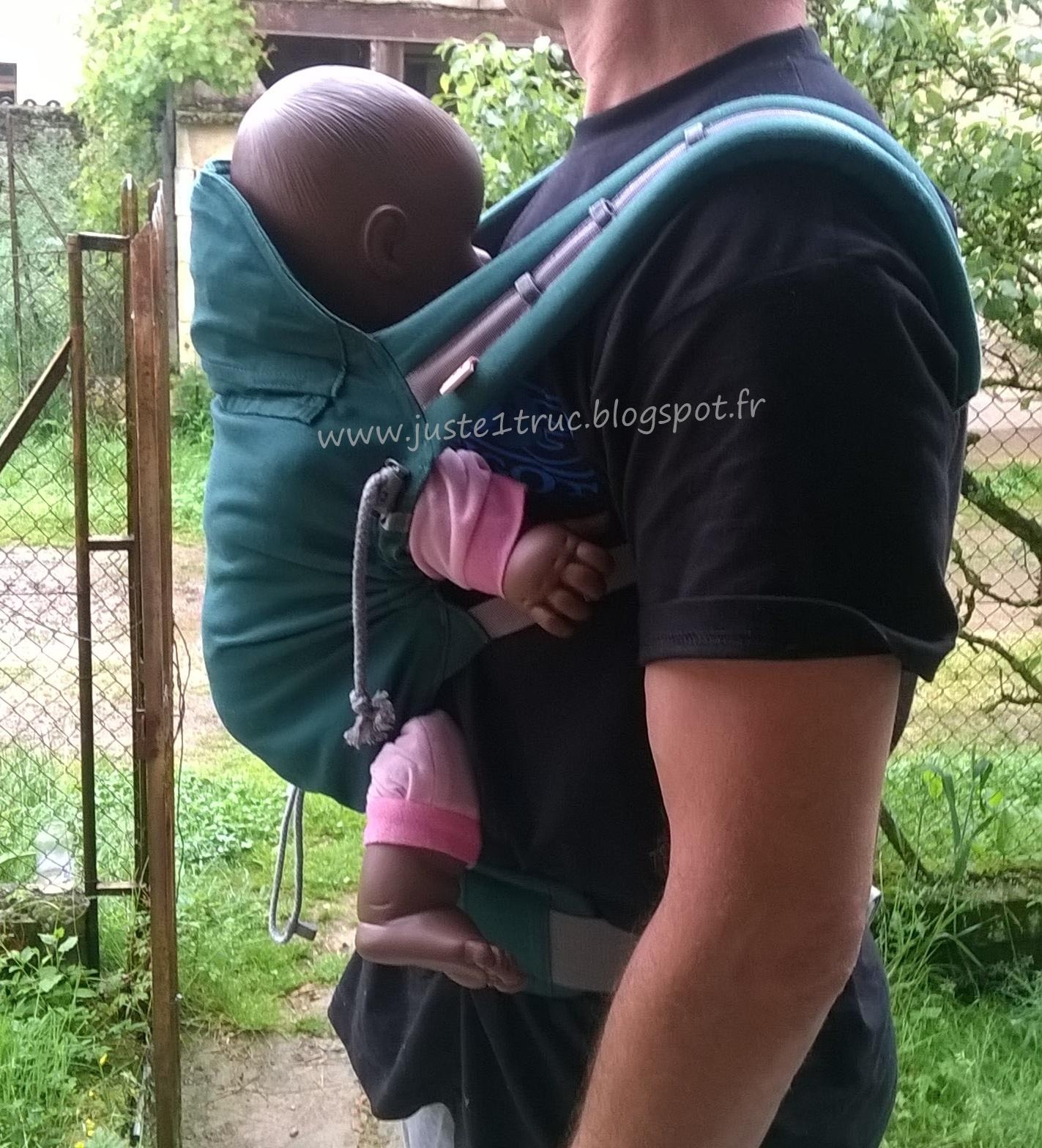 1692a63a7b57 avis test porte-bébé préformé 4 mois bébé portage tablier évolutif réglable  cordons assise dossier