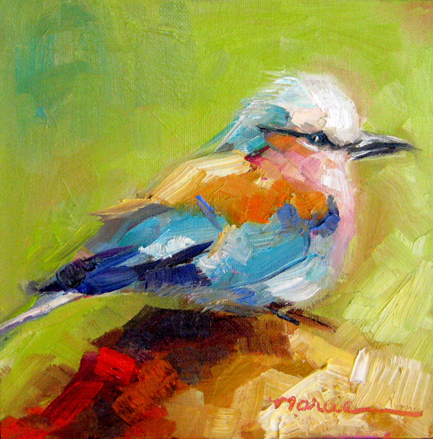 Painting by the Lake: Little Bird - SOLD