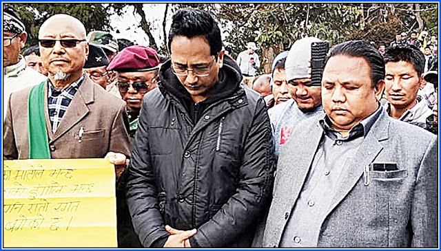 GNLF President Mann Ghisingh and Niraj Zimba