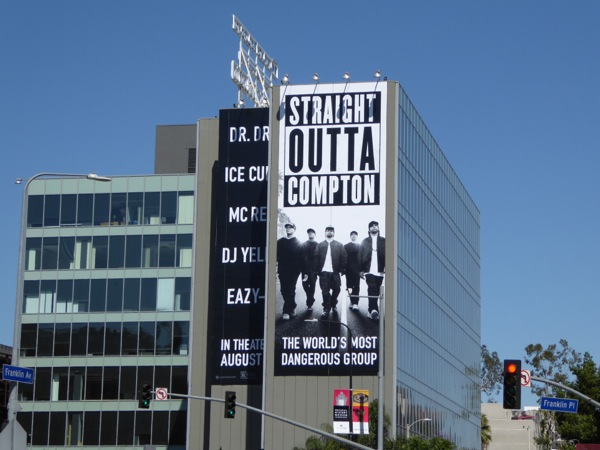 Giant Straight Outta Compton movie billboard
