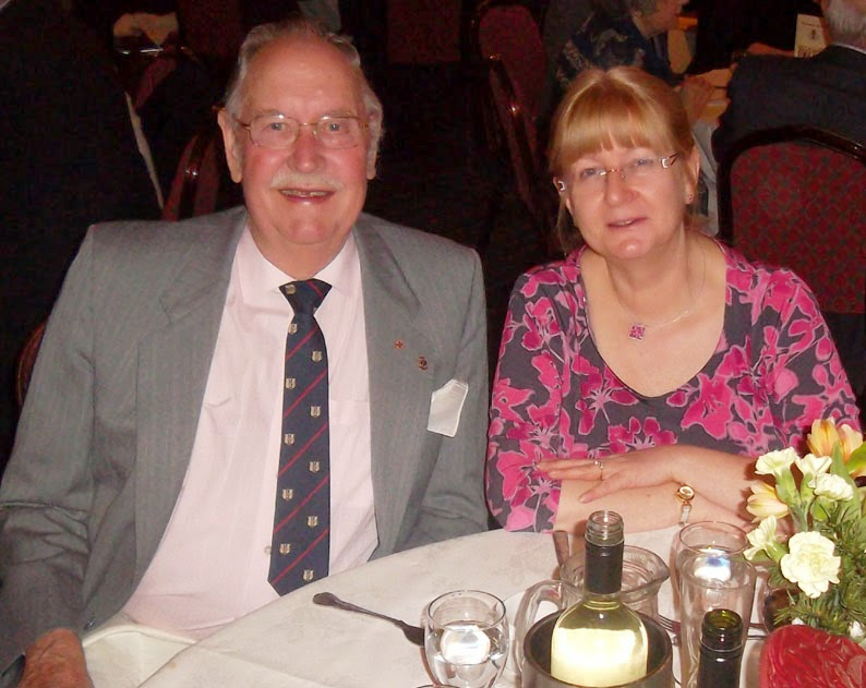 Enjoying the annual dinner of the Briggensians' Association held March  2014 at Elsham Golf Club - picture on Nigel Fisher's Brigg Blog