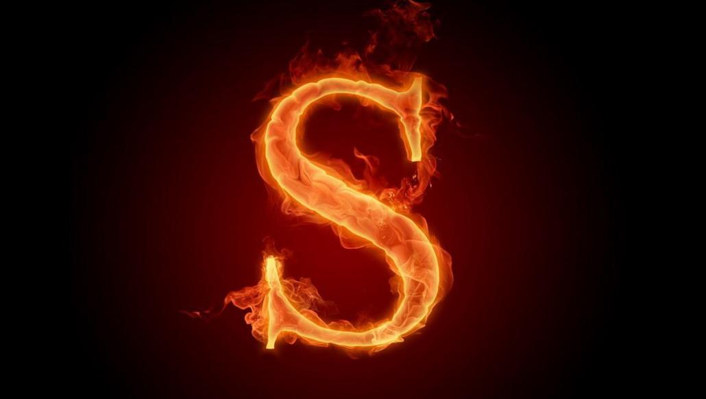 Fire Alphabet Wallpaper | Maceme Wallpaper