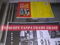 Cara menggunakan menu frame erase mesin fotocopy