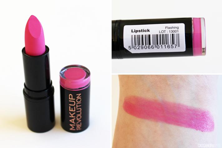 MAKEUP REVOLUTION // Haul + First Impressions - Lipstick in Flashing - CassandraMyee