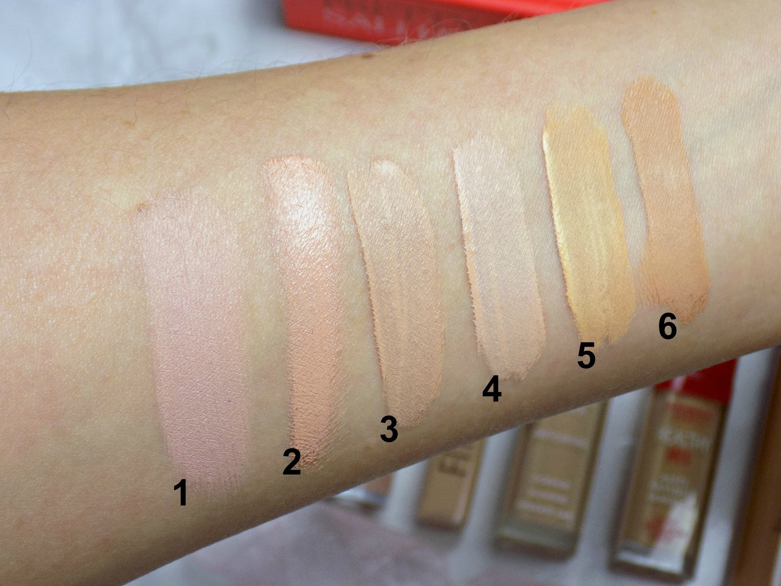 Best under eye concealers for dry/mature skin, swatches