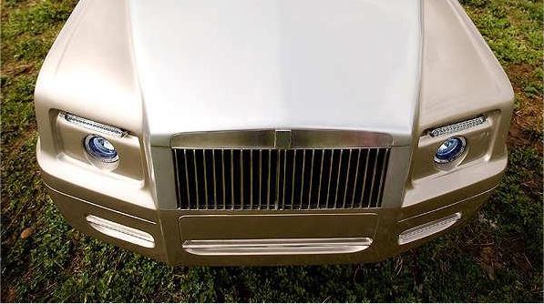 The Shadow rolls royce golf cart