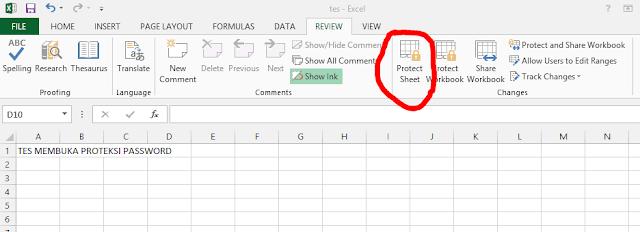 Cara Membuka Proteksi Password File Excel
