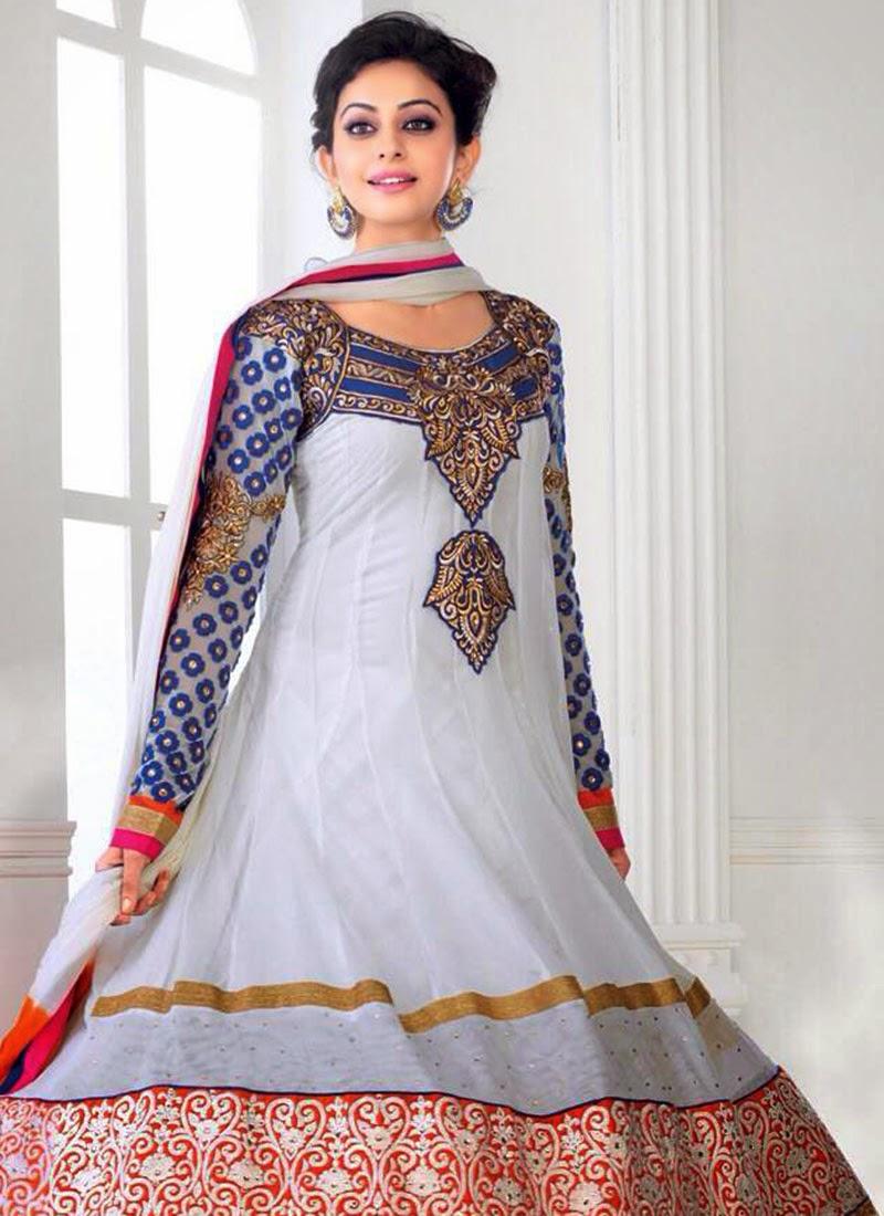 Rakul Preet Off white georgette Anarkali Suit