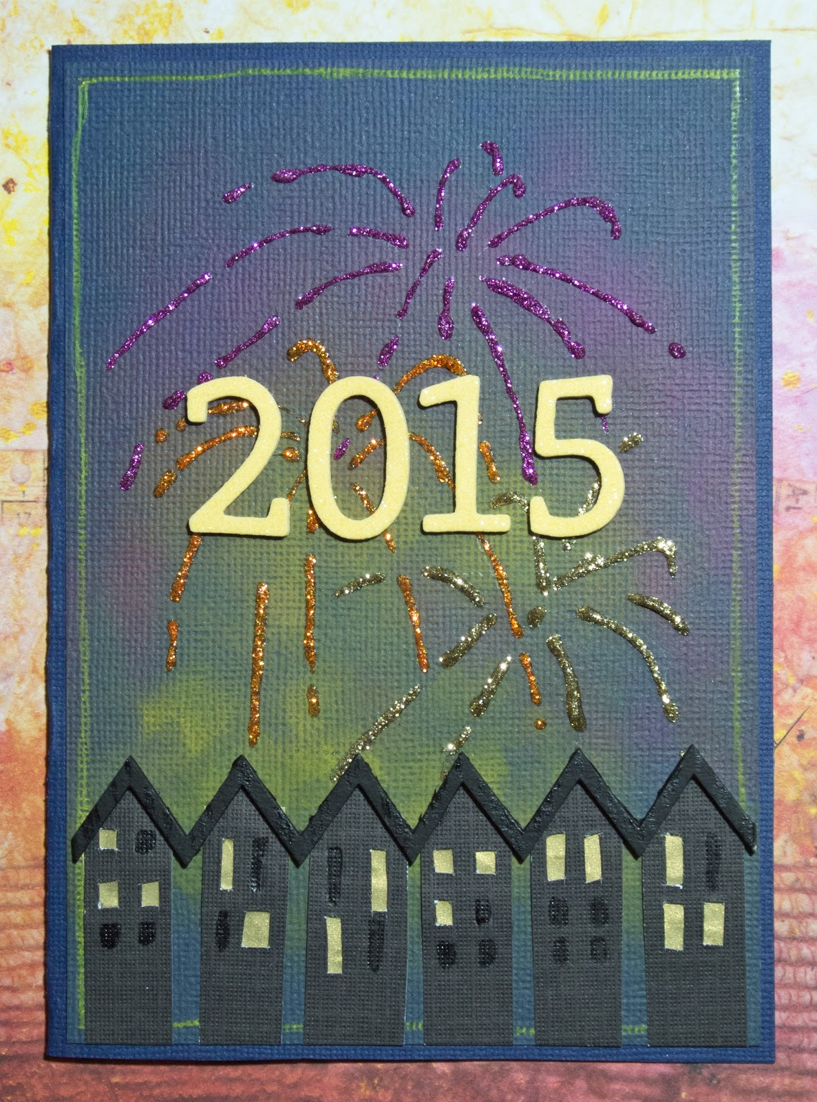 Cardmaking: Happy New Year! Card for January MMCC