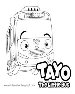 Mewarnai Bus Tayo Related Keywords Suggestions Mewarnai Bus Tayo