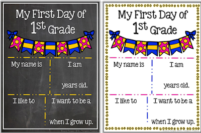 First Day of School Posters