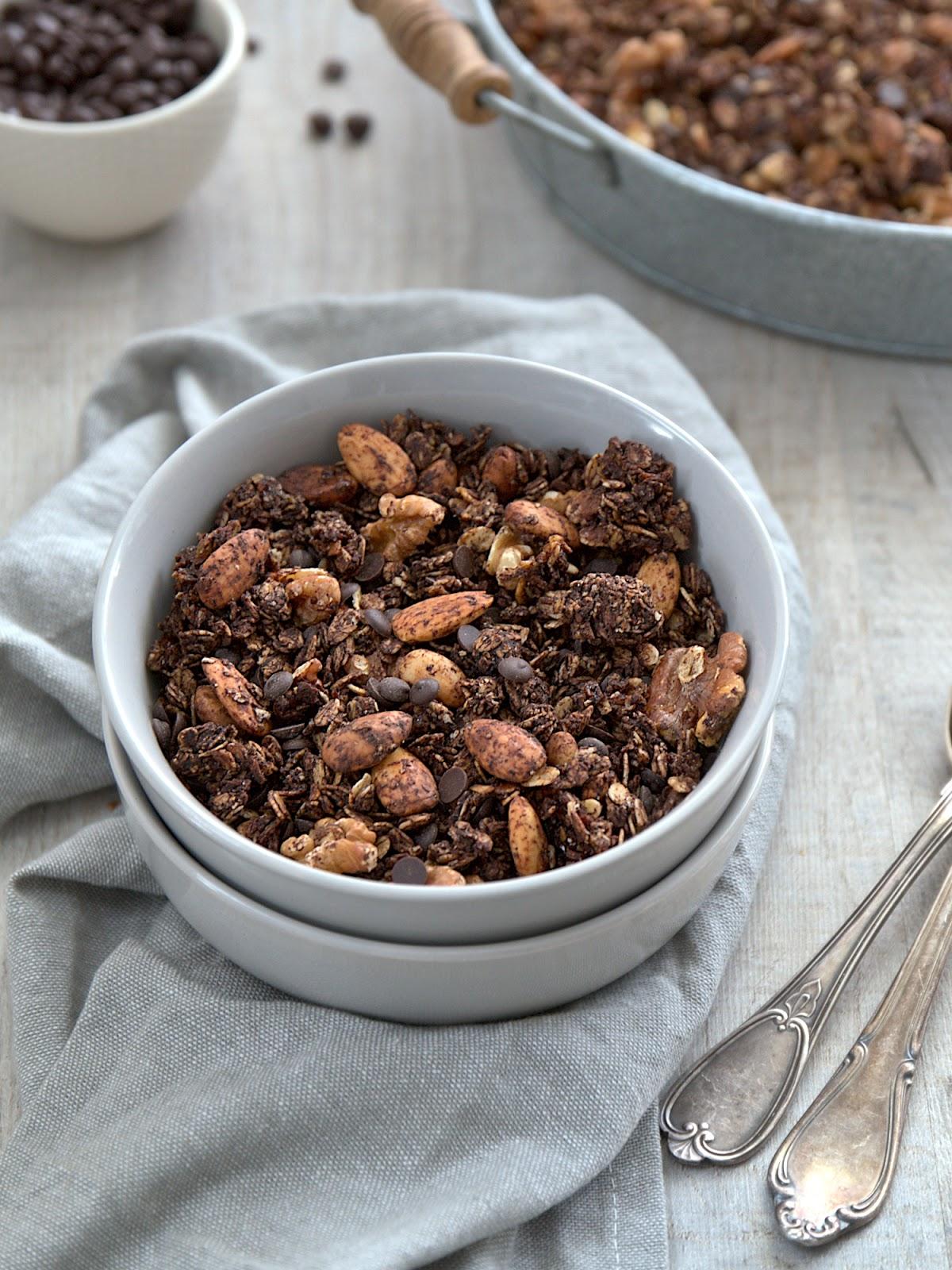 Najlepsza czekoladowa granola na śniadanie itemprop