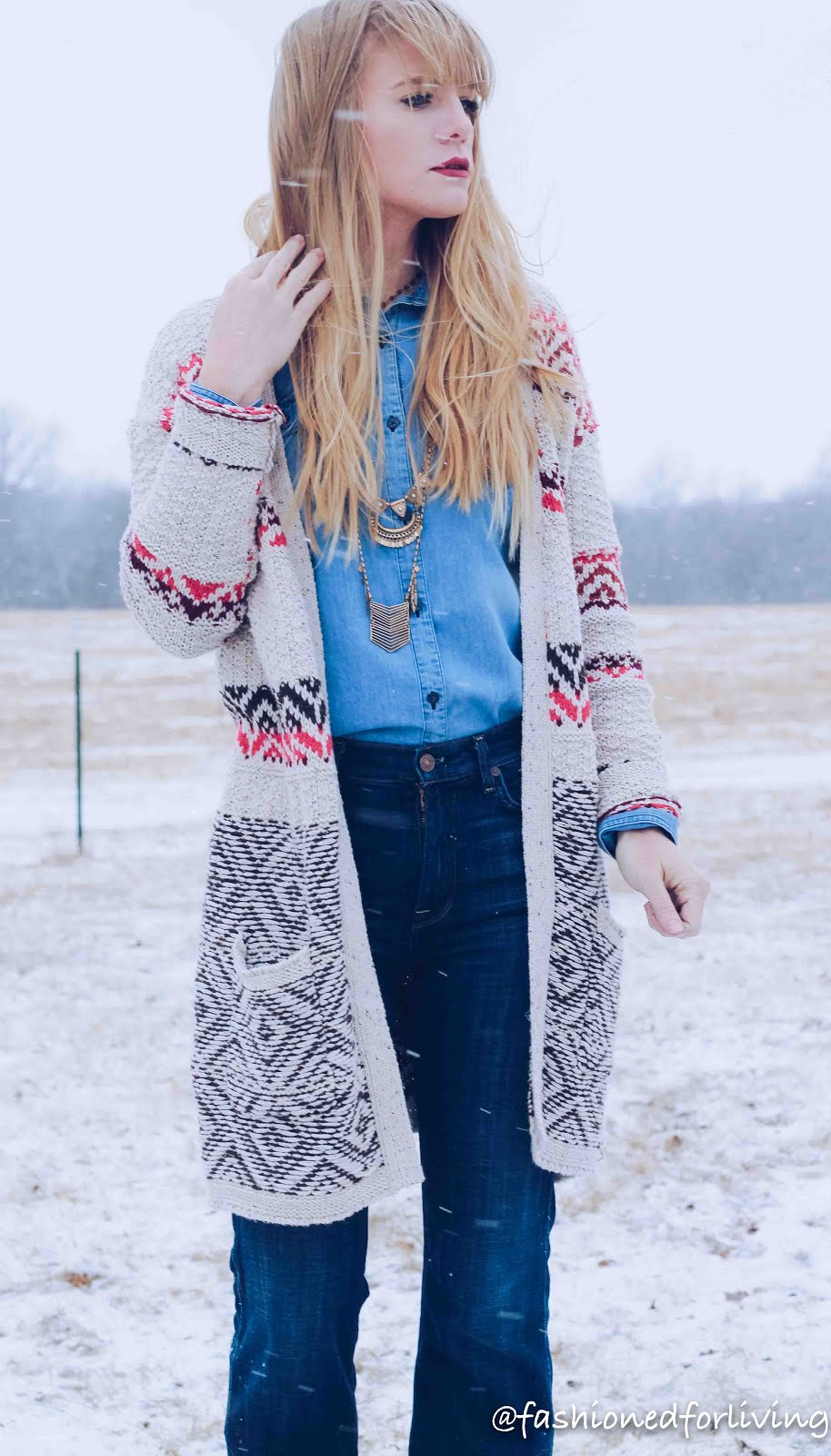 winter cowgirl boots outfit