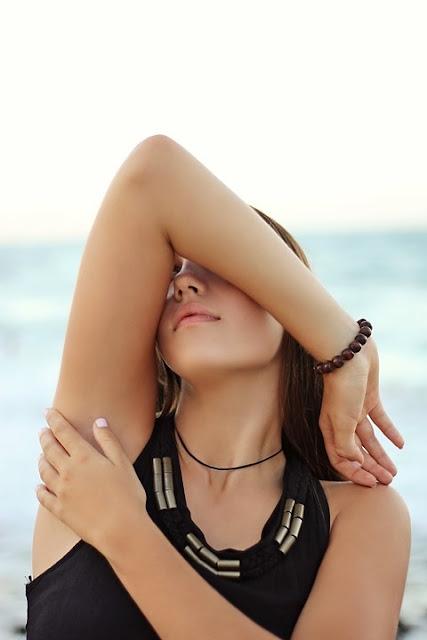 woman's underarm, deodorant