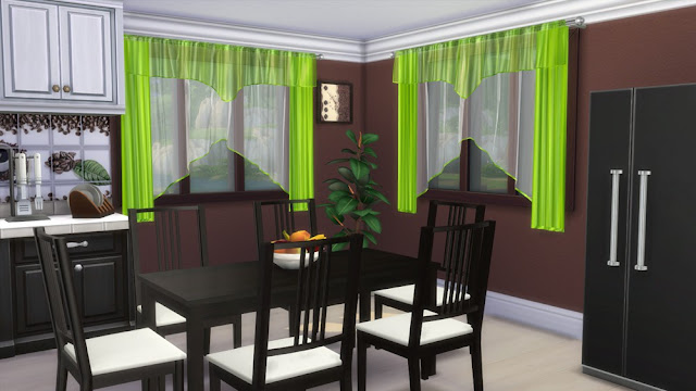 Sims 4 CC's - The Best: Set of curtains for the dining room by ...