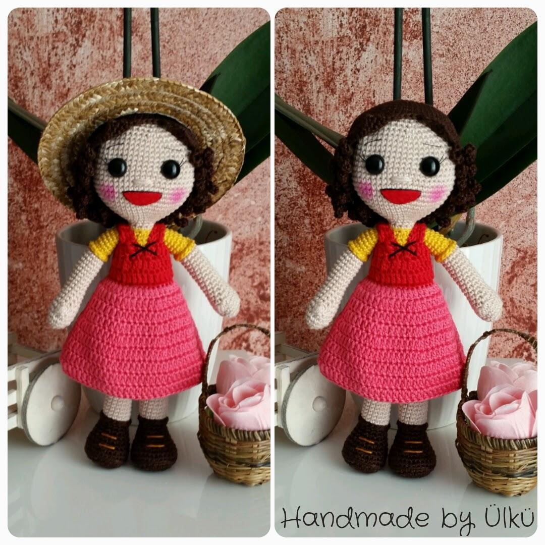 Handmade By ülkü Amigurumi Puppe Heidi Doll Heidi Bebek