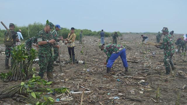 Tanam Mangrove Gandeng Sejumlah Komunitas