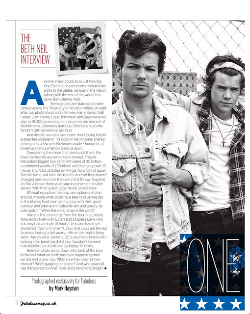 One DirectionOne Direction Fabulous Magazine 2013 Tumblr