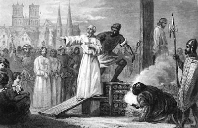 La muerte de Jaques de Molay.