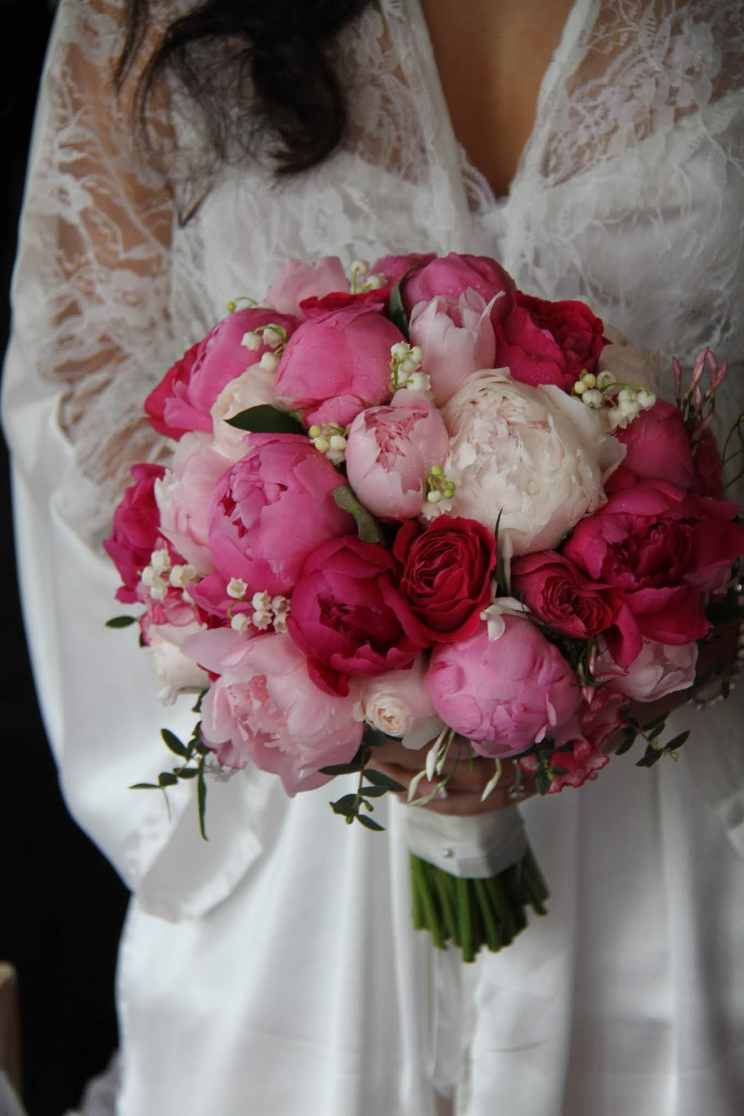 A little preview posting featuring natalie toms spectacular hot just loved this wedding bouquet featuring a whole host of pink peonies in a variety of shades english garden roses jasmine lily of the valley and sweet mightylinksfo