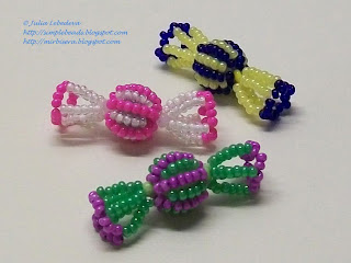 Candies out of seed beads and round beads
