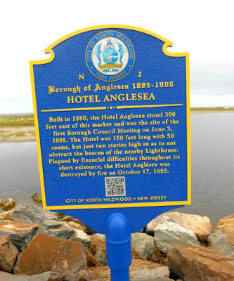 Hotel Anglesea Historical Marker in North Wildwood New Jersey
