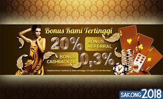 Bonus Cashback Judi Bandar66 Online VBandar99.com