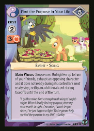 MLP Find the Purpose in Your Life Defenders of Equestria CCG Card