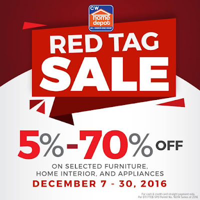 Manila Shopper Cw Home Depot Red Tag Sale Dec 2016
