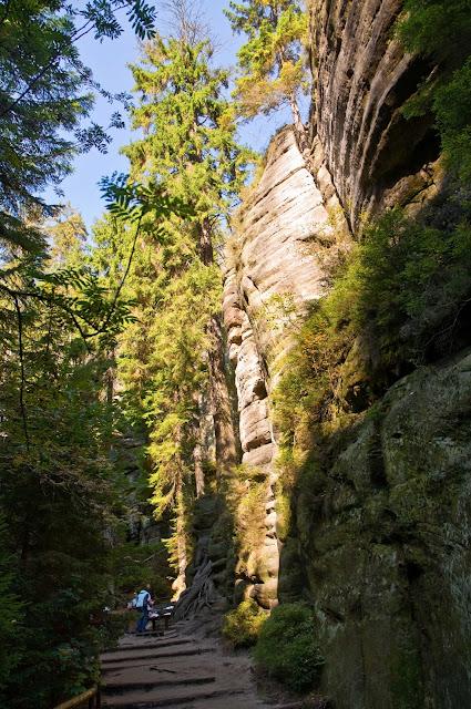 zielona trasa skalne miasto, Czechy