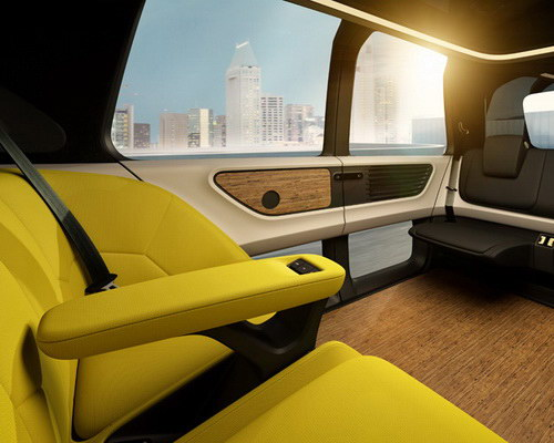 Tinuku Volkswagen announced VW Sedric as design autonomous mobile lounge car at Geneva Motor Show 2017