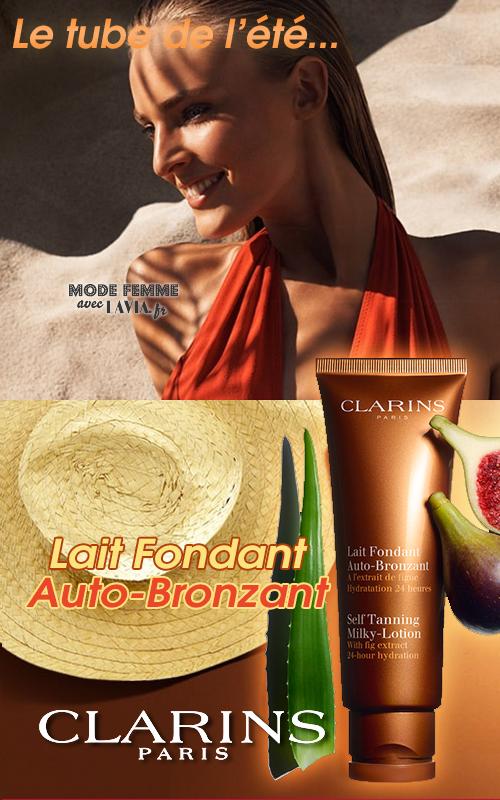 Lait Auto-Bronzant visage et corps hydratant Clarins