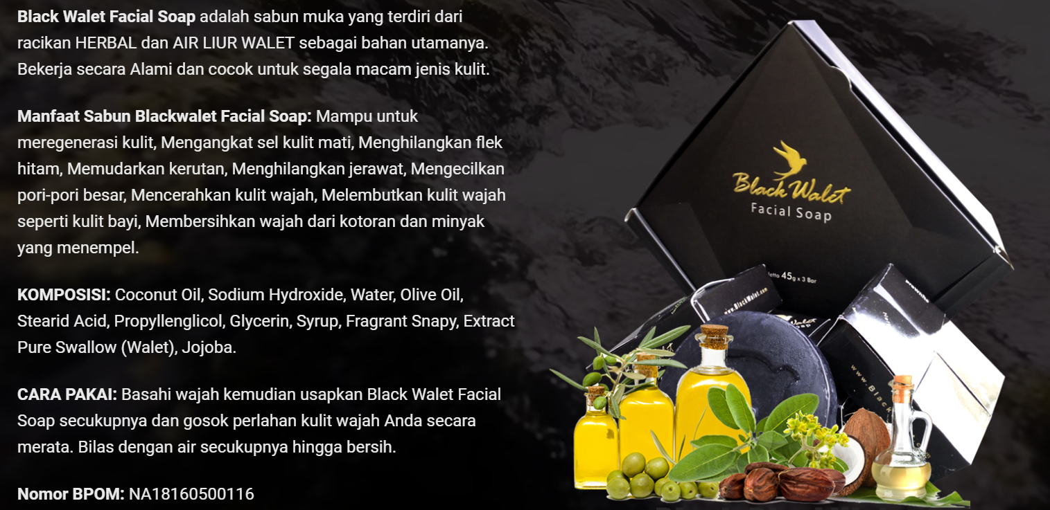 Agen Resmi Black Walet Makassar Sabun Muka