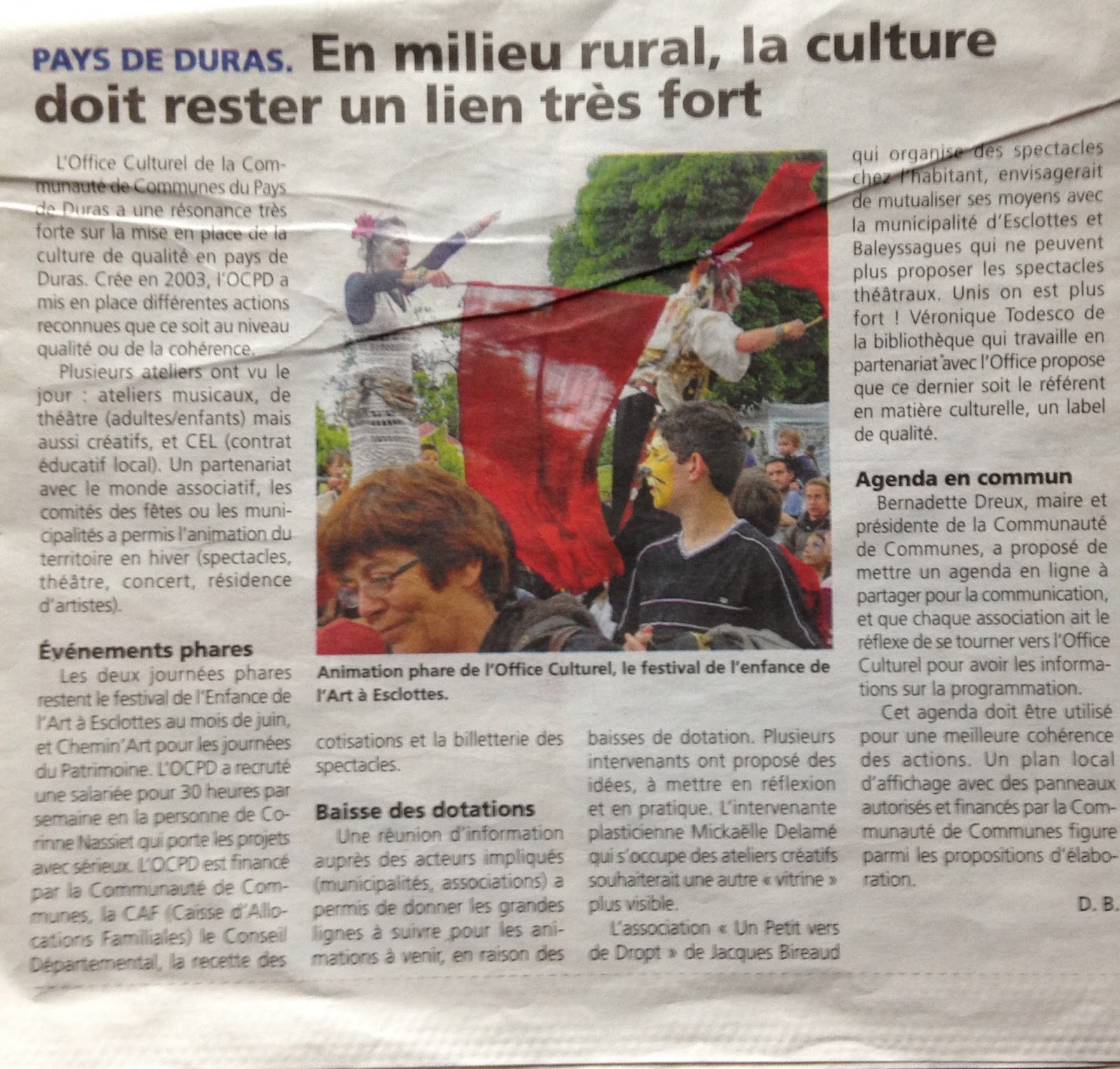 Soumensac duras la culture en milieu rural dans le canton for En milieu rural