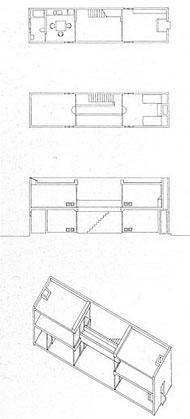 Casa Azuma de Tadao Ando. Osaka. Planos