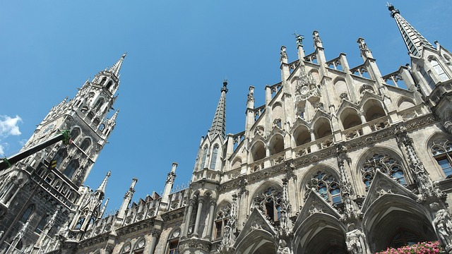 Marienplatz, the Neues Rathaus, Munich, Germany,
