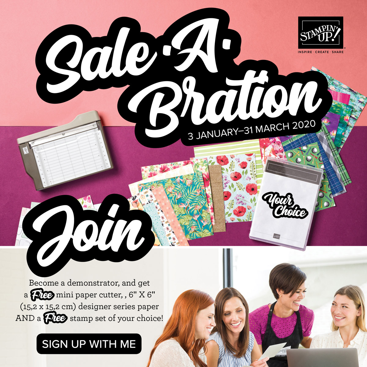 Join during Sale-A-Bration for extra freebies