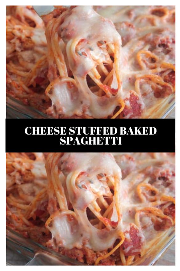 Cheese Stuffed Baked Spaghetti